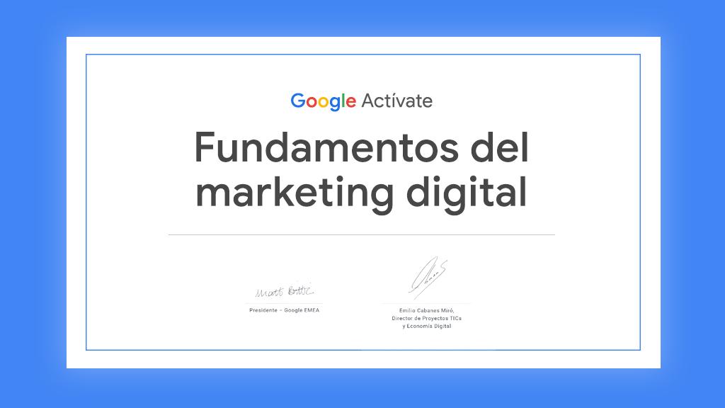 Certificado Marketing digital